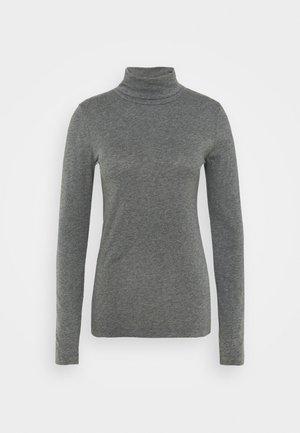 TISSUE TURTLENECK TEE - Long sleeved top - heather slate