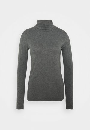 TISSUE TURTLENECK TEE - Long sleeved top - heather slate