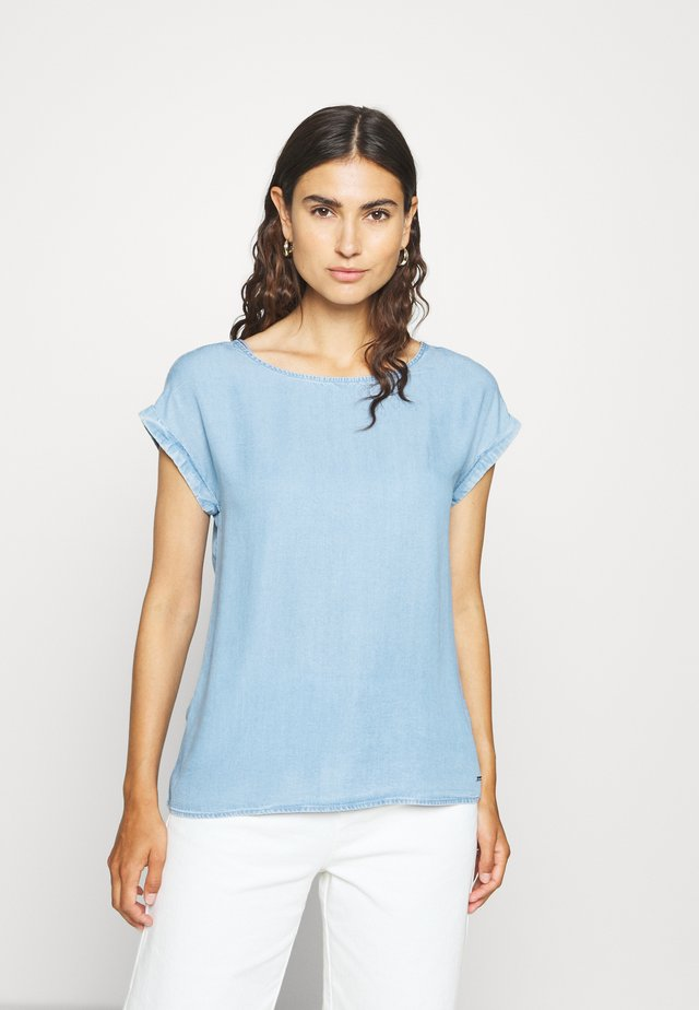TUNIC WITH BACK DETAIL - Pusero - light stone bright blue denim