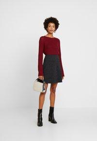 edc by Esprit - FLARED SKIRT - Mini skirt - black - 1