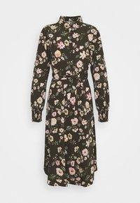 PCFALISHI MIDI SHIRT DRESS - Shirt dress - black olive