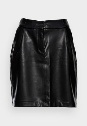 STRAIGHT - Mini skirt - black