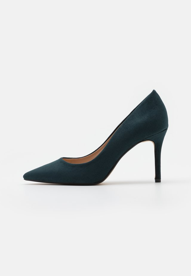 WIDE FIT DELE POINT STILETTO - Klassieke pumps - teal