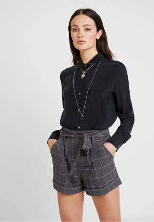 NONOGARDEN - Button-down blouse - carbone