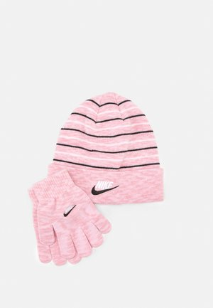 SPACE DYED BEANIE AND GLOVES SET UNISEX - Pipo - pink glaze