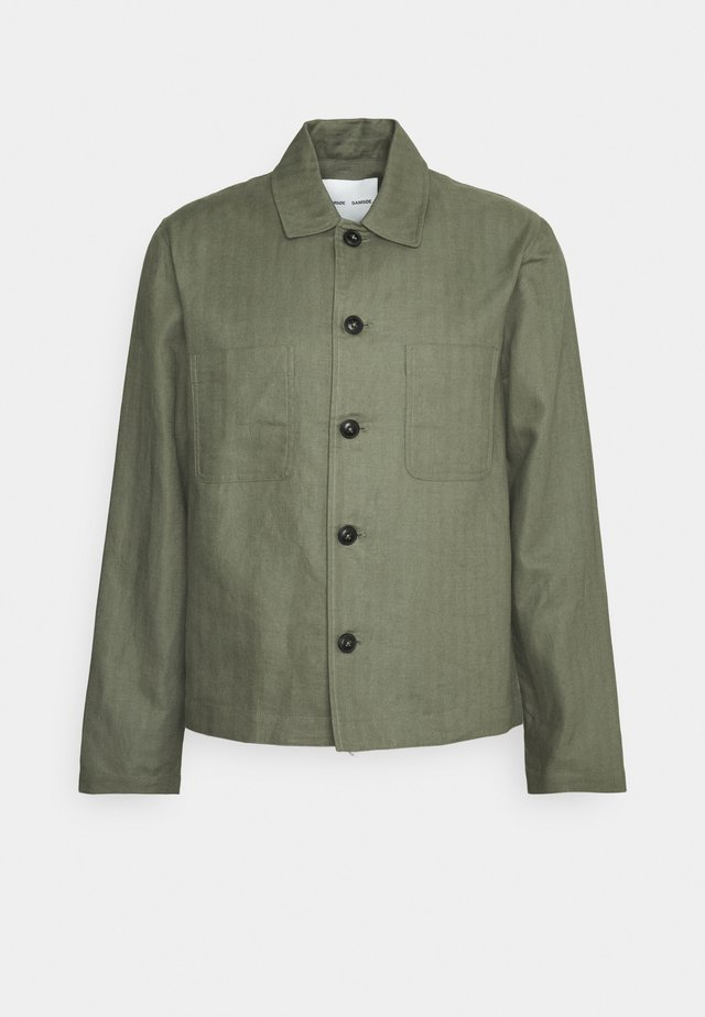 MILANO JACKET - Summer jacket - deep lichen green