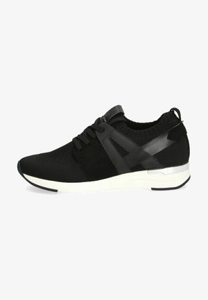 Sneakers laag - black knit comb