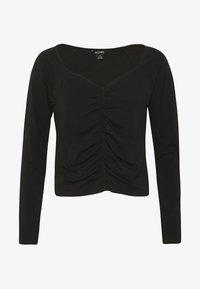 MONIKA - Maglietta a manica lunga - black