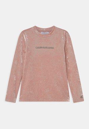 CRUSHED - Maglietta a manica lunga - delicate rose