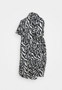 Missguided Maternity - SMOCK DRESS ZEBRA - Shirt dress - black - 1