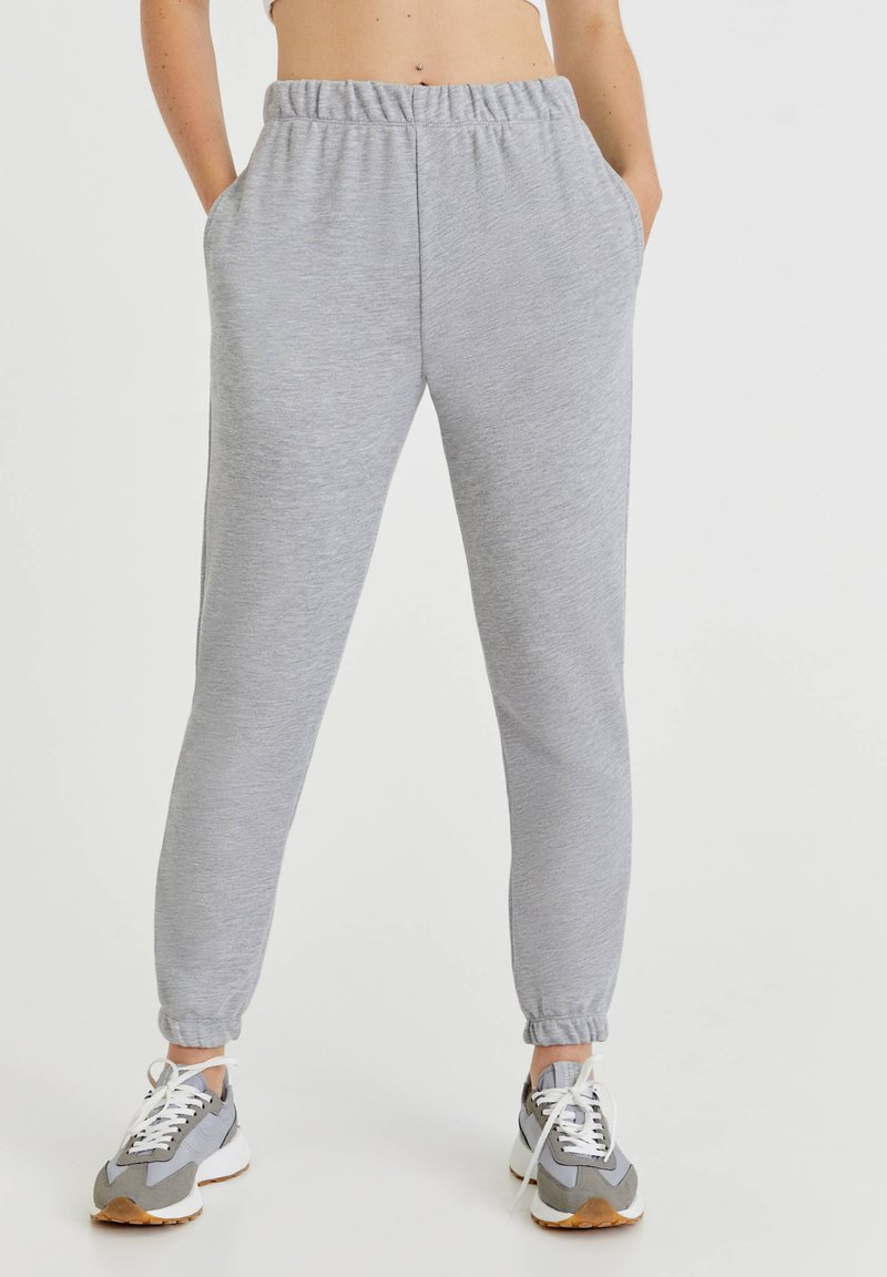 PULL&BEAR - Tracksuit bottoms - light grey