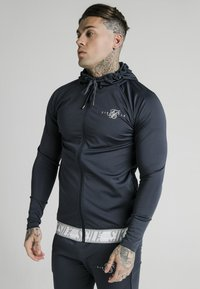 SIKSILK - SCOPE TAPE ZIP THROUGH HOODIE - Felpa aperta - navy - 0