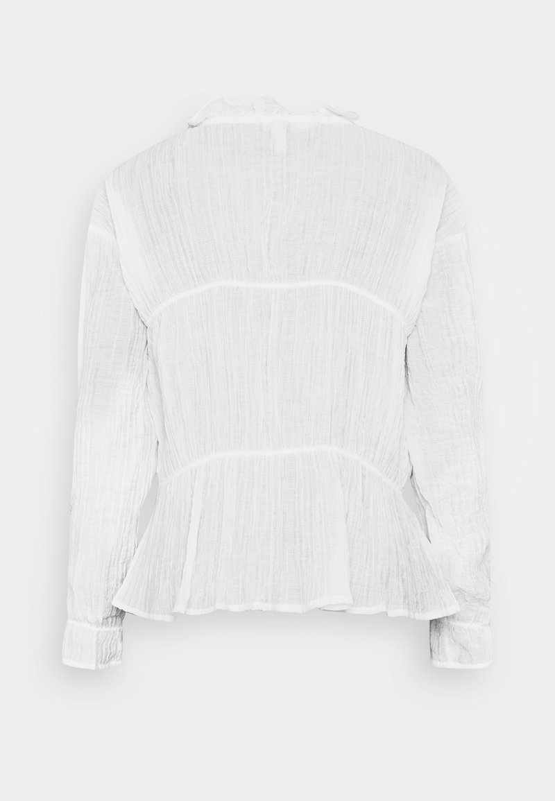 Nly by Nelly ROMANTIC CHI BLOUSE - Bluse - white/weiß Dh0mdA