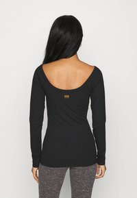 G-Star - DEEP BACK T R WMN L\S - Topper langermet - dark black