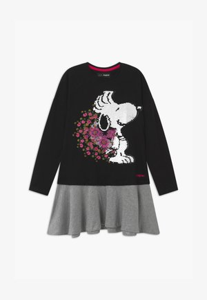 SNOOPY - Jersey dress - black