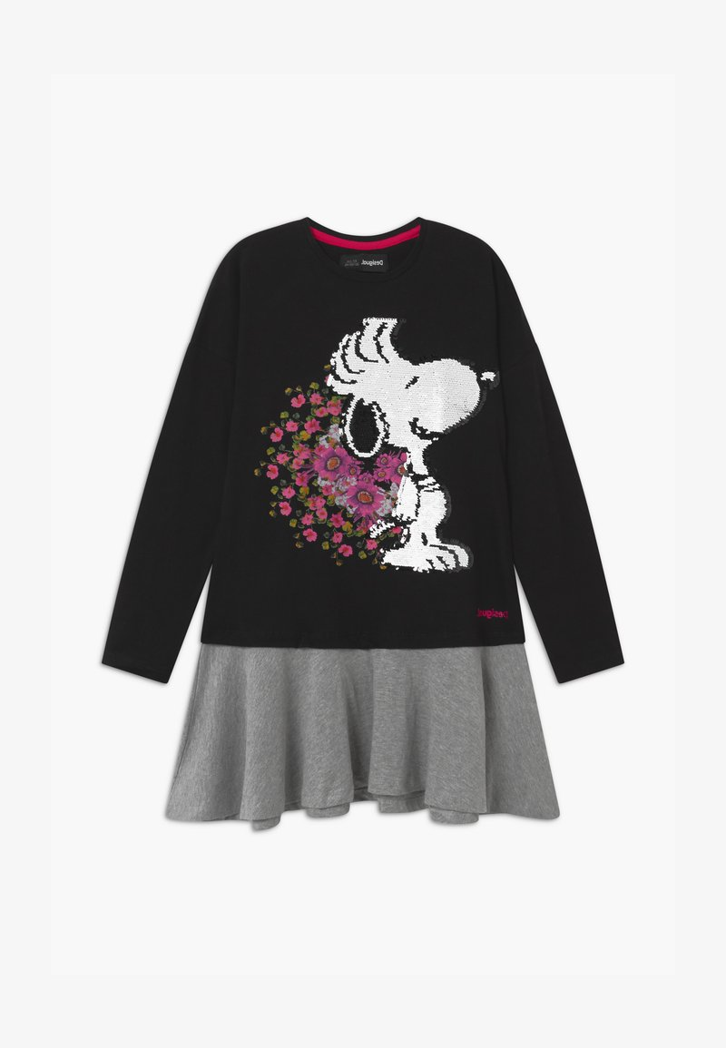 Desigual - SNOOPY - Jersey dress - black