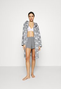 Loungeable - HEART LUXURY HOODED ROBE - Badjas - grey - 1