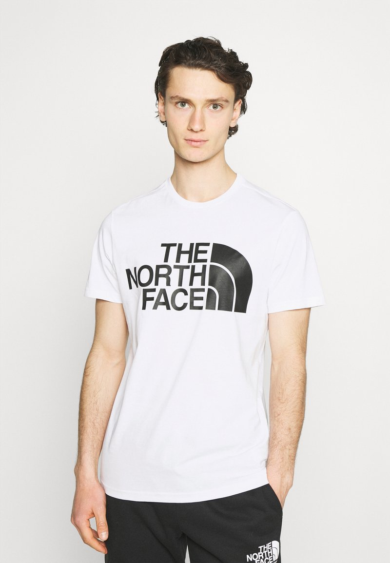 The North Face - STANDARD TEE - Printtipaita - white