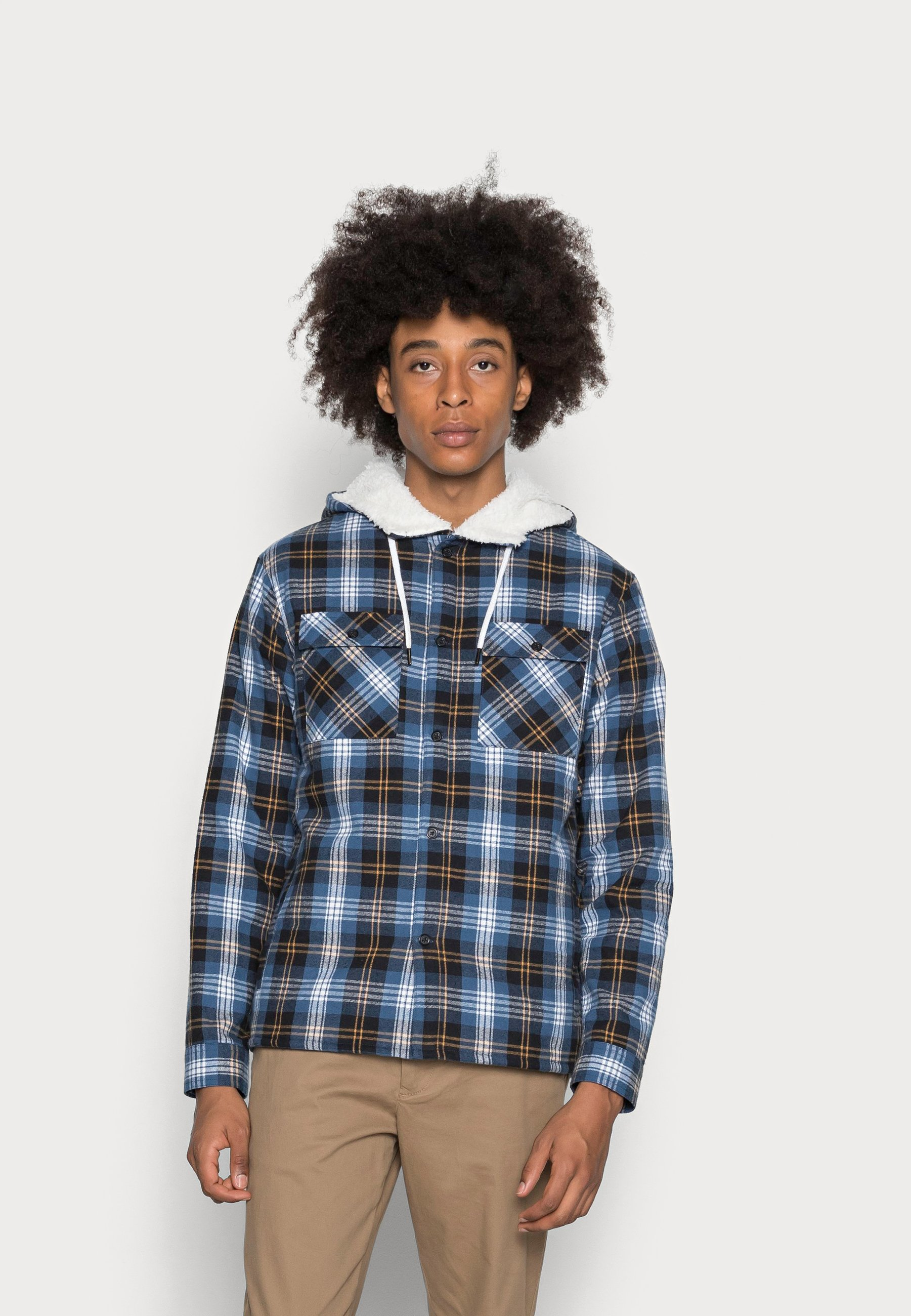 Homme LINED HOODY CHECK OVER - Chemise