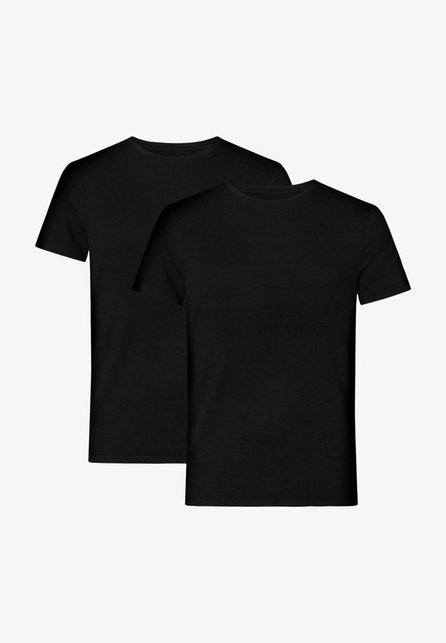 2 PACK BAMBOO - T-shirt - bas - black