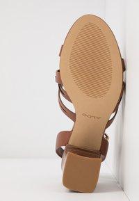 ALDO - HOLLANDSE - High heeled sandals - cognac - 6