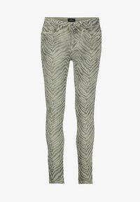 Monari - Slim fit jeans - dusty green gemustert - 1