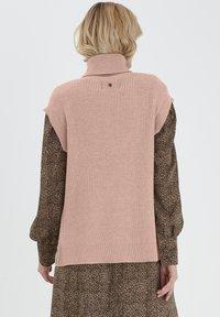 PULZ - Sweatshirt - mahogany rose melange - 1