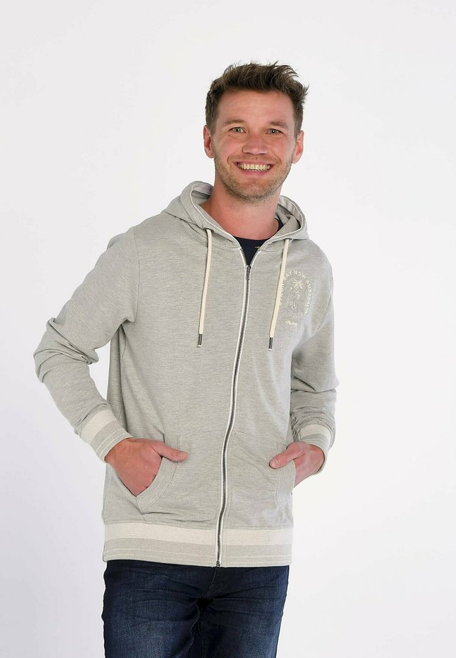 BYRON BAY  - veste en sweat zippée - grey