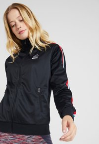 Lotto - ATHLETICA - Zip-up hoodie - all black - 4