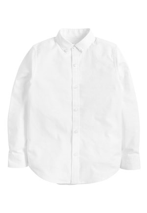 WHITE LONG SLEEVE OXFORD SHIRT (3-16YRS) - Shirt - white