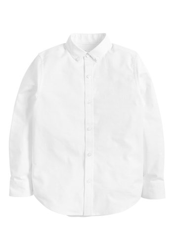 WHITE LONG SLEEVE OXFORD SHIRT (3-16YRS)