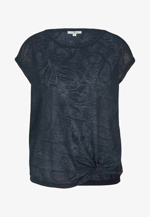 MIT KNOTENDETAIL - Print T-shirt - blue paisley design
