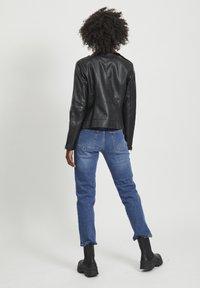 Vila - VICARA FAUX JACKET - Faux leather jacket - black - 2