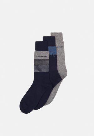 MENS ICONIC LOGOCREW SAWYER 3 PACK - Socks - navy combo
