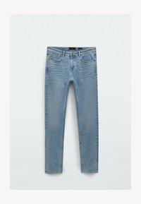 Massimo Dutti - MIT STRUKTURMUSTER - Slim fit jeans - blue/black denim - 2