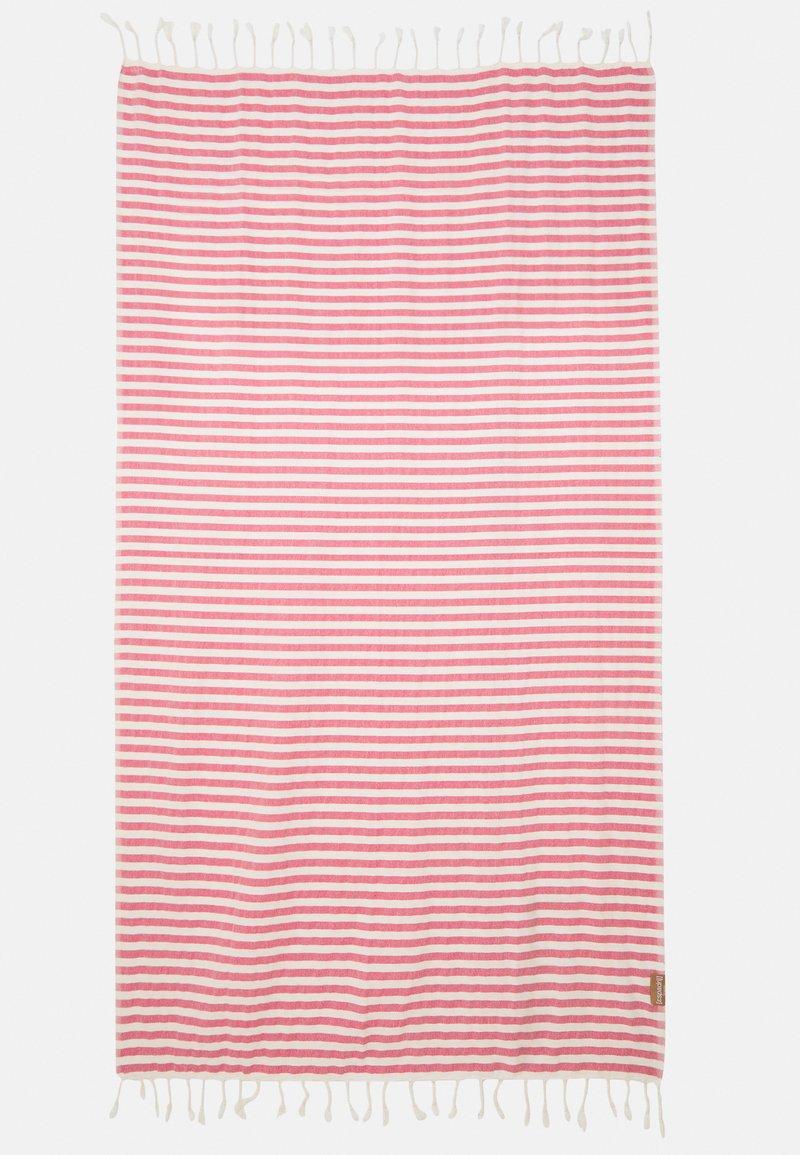 Espadrij l´originale - BEACHPLAID STRIPES - Accessorio da spiaggia - ecru/pink