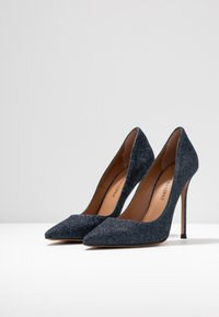 Pura Lopez - High heels - navy glitter - 4