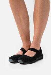 Skechers - BE COOL - Ankle strap ballet pumps - black - 0