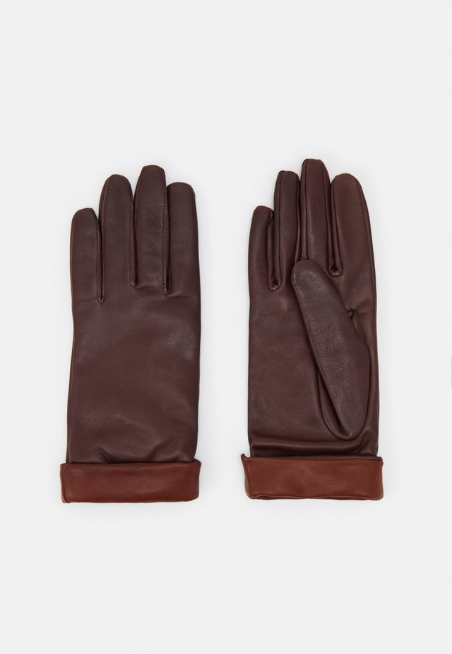 Gloves - tan/tobacco