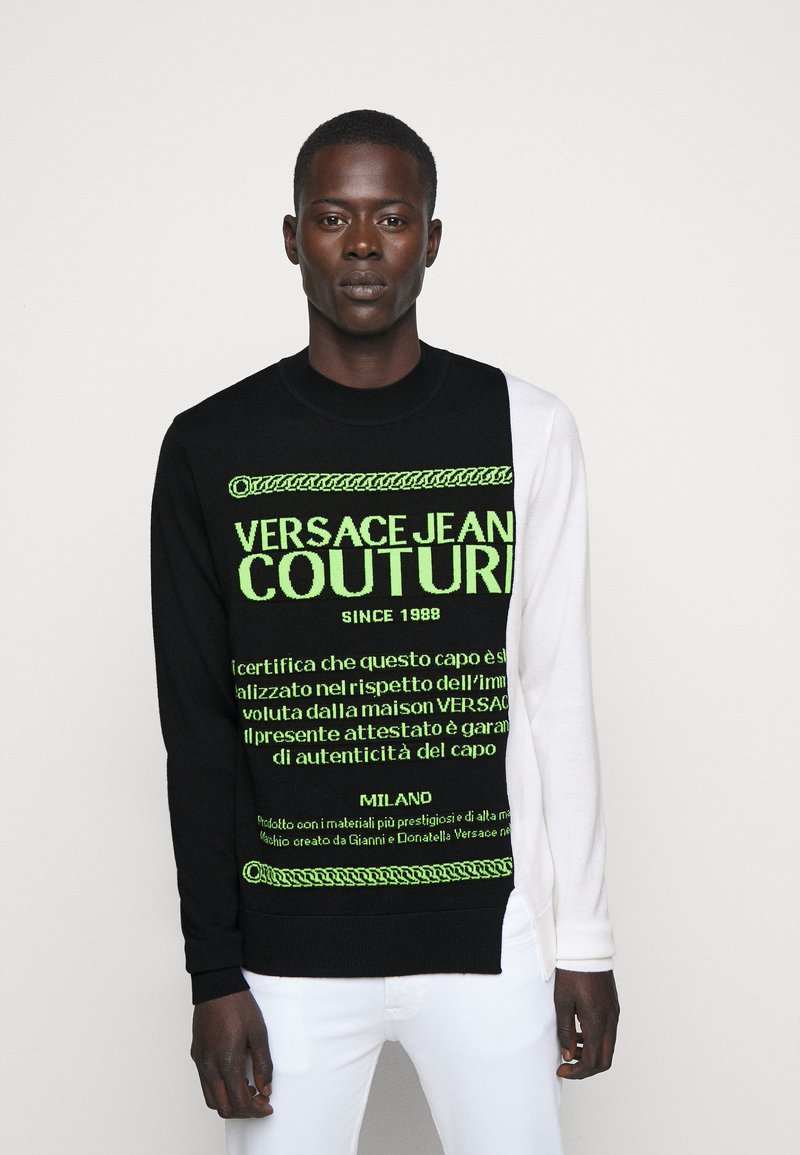 Versace Jeans Couture - Jumper - black/neon green/off-white