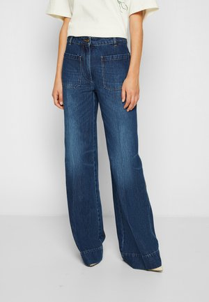 ALINA - Jeansy Relaxed Fit - marble wash light