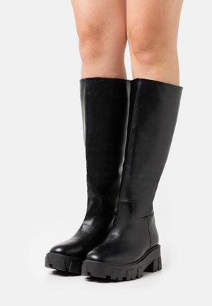 WIDE FIT RYDER - Platform boots - black