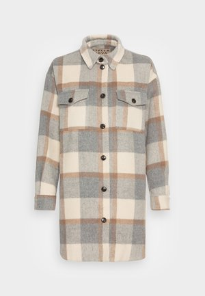 EMMY - Manteau classique - grey/creme/brown checks