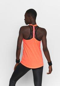 Nike Performance - DRY ELASTIKA TANK - Sportshirt - bright mango/white - 2