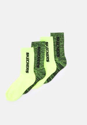 BOYS CUSHIONED TENNIS SOCKS 4 PACK - Socks - lemon glacier mouliné