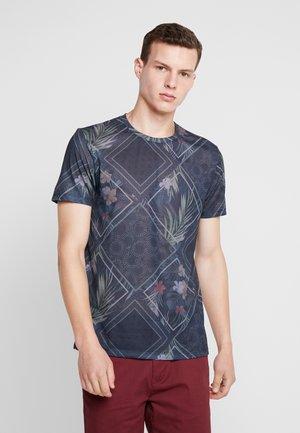 TILE ALL OVER ONLINE - Print T-shirt - navy