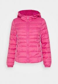 ONLNEWTAHOE QUILTED HOOD  - Lehká bunda - shocking pink