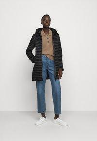 Save the duck - IRIS ALBERTA LONG HOODED COAT - Winter coat - black - 1