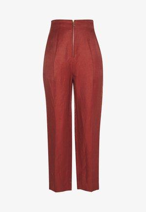 Trousers - terracotta