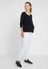 Cotton On Body - DROP CROTCH STUDIO PANT - Pantalones deportivos - grey marle - 1